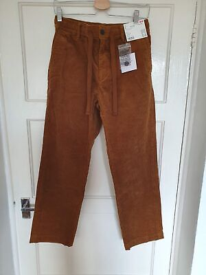 Uniqlo x J.W. Anderson Relaxed Corduroy Drawstring Trousers Brown - Small