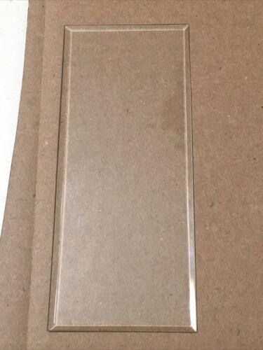 Antique Ansonia Crystal Regulator Mantle Clock Beveled Glass Side Panel #2