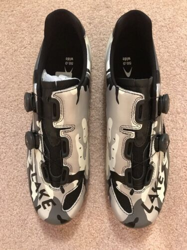 Lake WIDE CX237-X CX 237 X Men's BICYCLE Road Shoes NEW 50