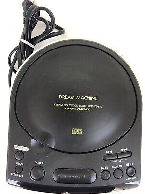 Sony Dream Machine CD Player Model ICF-CD815 FM/AM CD Clock Radio CD-R/RW