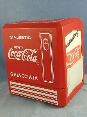 Plastic Coca-Cola NAPKIN DISPENSER w/Napkins Italian Language Drink Frozen Coke