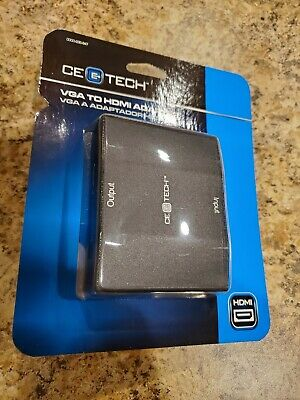*NEW* CE TECH VGA to HDMI 1080 Adapter Converter Box covid 19 (Vga Hdmi Converter Box coronavirus)