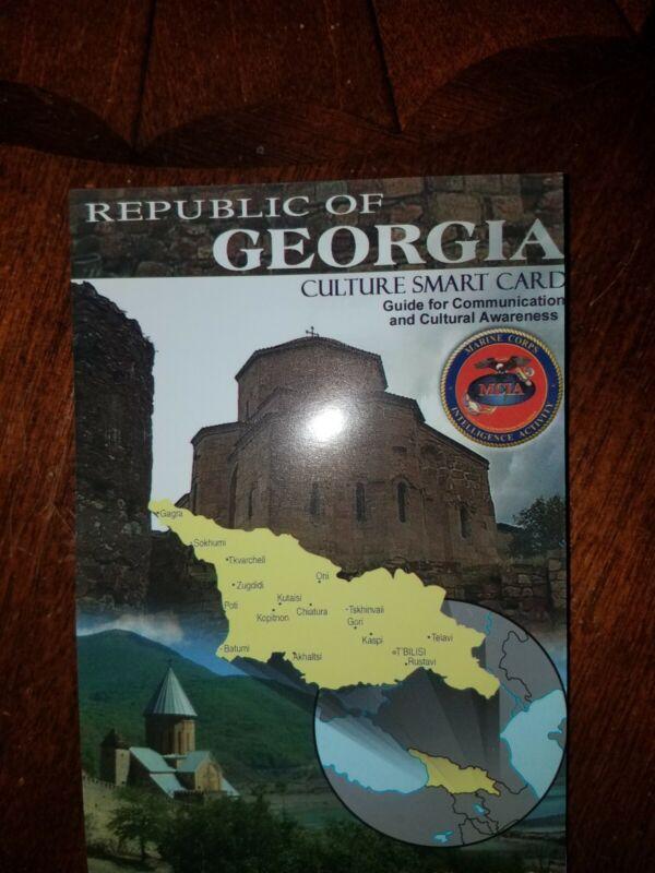 US Army USMC Georgia Cultural Smart Card