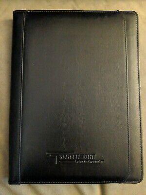 Transfreight Black Leeds Portfolio Manchester Zippered Organizer Notebook
