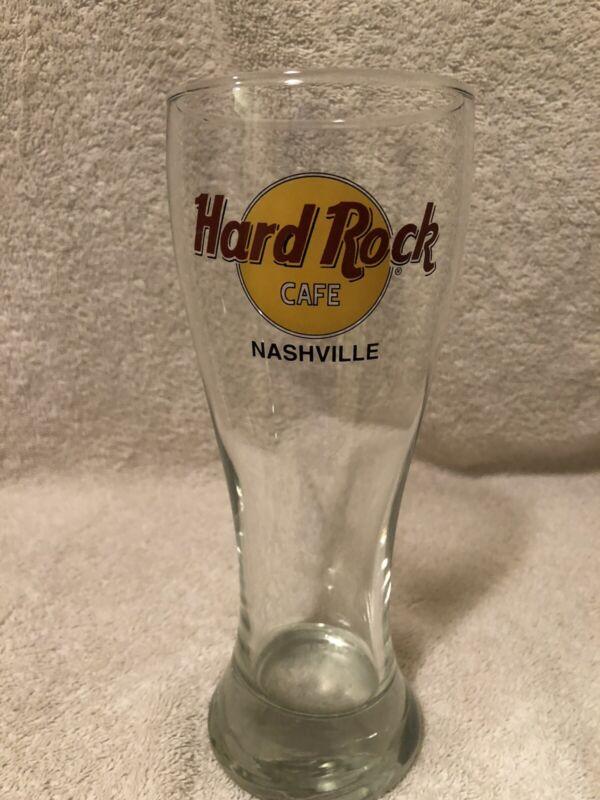 EUC HARD ROCK CAFE PILSNER STYLE BEER GLASS -  Nashville