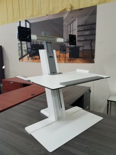 Humanscale Height Adjustable Quickstand Desk, Heavy Mount White