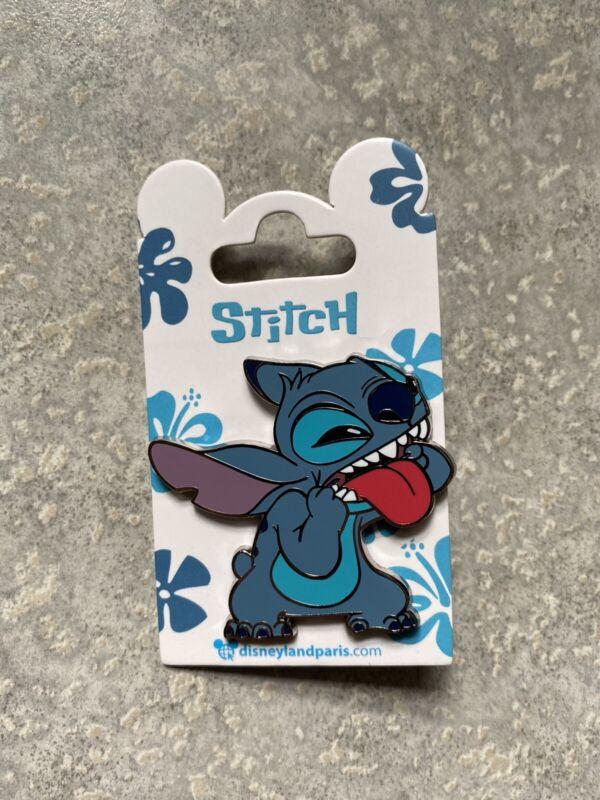 Disney DLP DLRP Disneyland Paris Lilo And Stitch Sticking Out Tongue Pin 2021