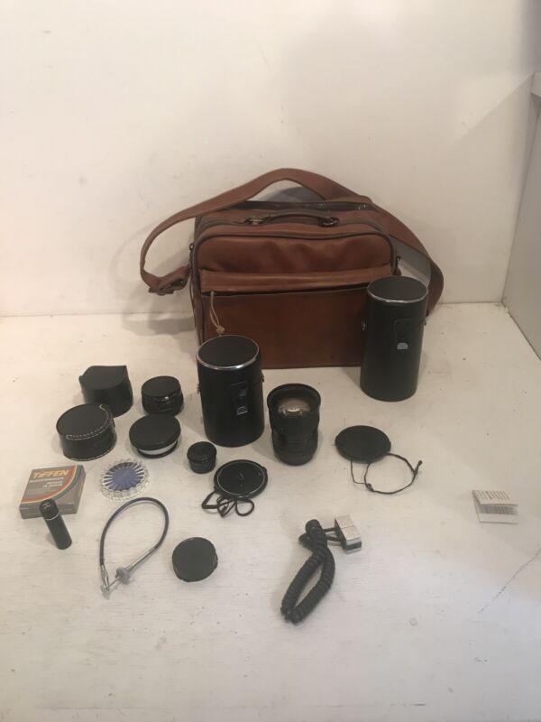 Vintage Camera Coast Bag Lens Filter Accessory Lot Star-D Tiffen