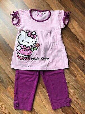 HELLO KITTY ♥ SANRIO Pyjama Shorty kurzer Schlafanzug rosa/lila ♥ Gr. 110/116 - Rosa Kurzer Schlafanzug