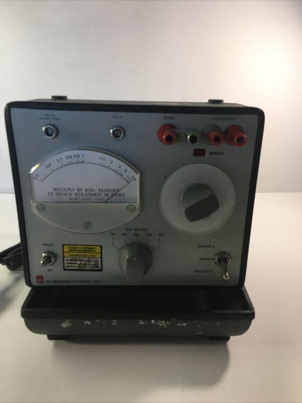 General Radio GenRad Model 1863 Megohmmeter Insulation Meter (TE- 11636) 00100