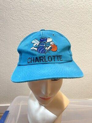 Vintage Charlotte Hornets NBA All Teal 1990's Snapback Hat Cap