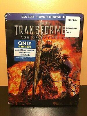 TRANSFORMERS AGE OF EXTINCTION STEELBOOK BLU-RAY + DVD  BESTBUY EXCLUSIVE