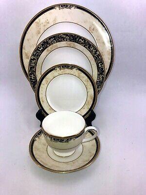 Wedgwood Cornucopia Five Piece Place Setting Plates Cup Saucer  Five Piece Plate Setting