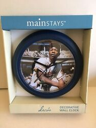Milwaukee Brave Henry Aaron Mainstays 9 Decorative Wall Clock in Original Box