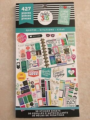 Create 365  The Happy Planner  Quotes Value Pack Stickers 427 New