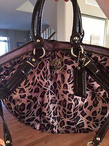 Pristine condition ocelot print Coach purse