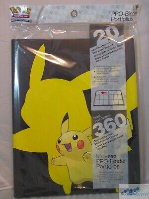 ULTRA PRO POKEMON Pikachu 2019 PRO-BINDER CARD HOLDER + 20 PAGES FOR CARDS