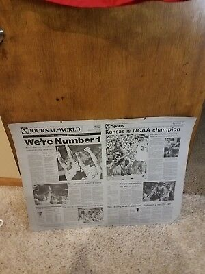1988 Kansas Jayhawks Basketball - RARE 1988 KANSAS JAYHAWKS NATIONAL CHAMPIONS NEWSPAPER PRINTING PLATE BASKETBALL