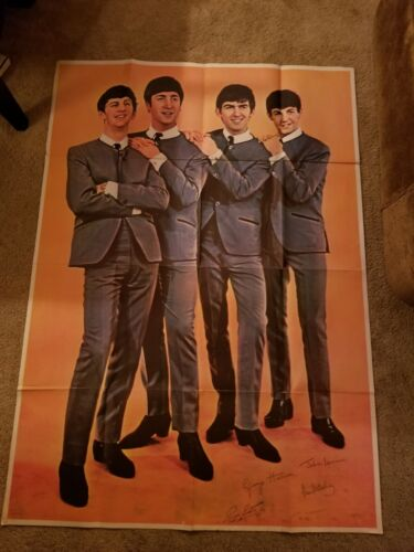 """Vintage Mid 1960s The Beatles 39"""" x 55"""" Poster"""