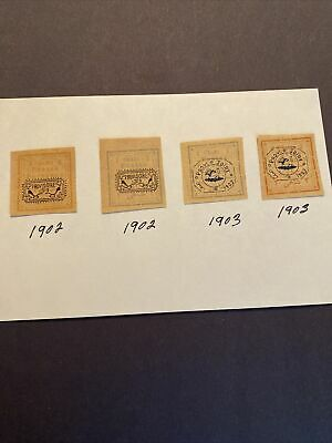 4 Middle East Stamps , -1902-1903- MLH
