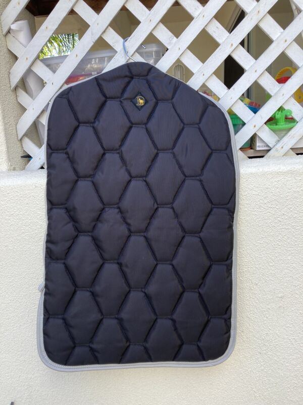 Black Big D Quilted Chap Bag with Hanger New Without Tags