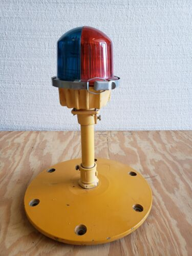 Rare Double Globe Taxiway Lamp Airport Runway Light Plane Helicopter Mancave #08