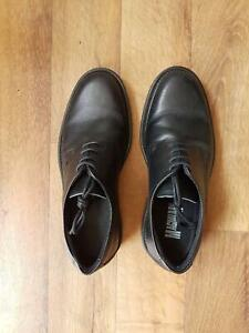 Black Leather dress/work shoes, as new condition