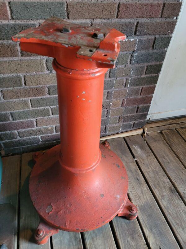 Antique Cast Iron Van Berkel Meat Slicer US Slicing Machine Pedestal Base Stand