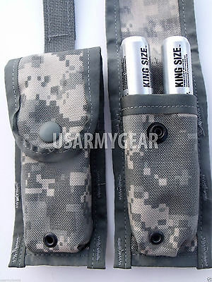 2 New Us Army ACU Digital Camo MOLLE II 9MM Single MAG Pistol Magazine Pouches