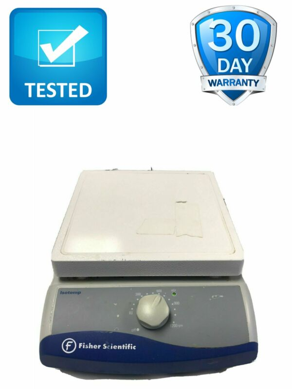 """Fisher Scientific 11-100-49S Isotemp Magnetic Stirrer 7"""" x 7"""" Test Working"""