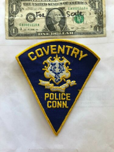 Coventry Connecticut Police Patch Un-sewn great shape