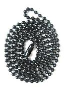 Mens Black Bead Necklace