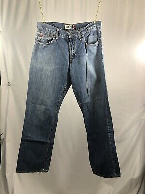 Quicksilver QuickJeans Relaxed Fit Men's Medium Wash Jeans 34x34 Free Shipping