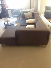 Huge brown sofa 2+1seat fabric super bargain Maroubra Eastern Suburbs Preview