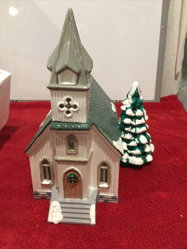 1990 Dept 56 Original Snow Village All Saints Church 5070-9 with box works
