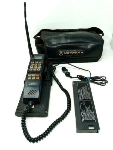 Vintage 90s Motorola Cellular Mobile Phone w/ Transmitter Case SCN2395A