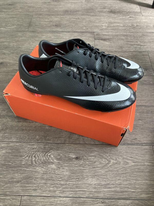 Nike Mens Rare Mercurial Vapor IX FG Pro 555605 010 Black White Cleats SIZE 10