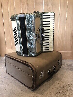 Parrot Green Small Piano Accordion With Box