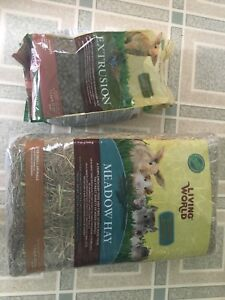 Rabbit food and small animal hay