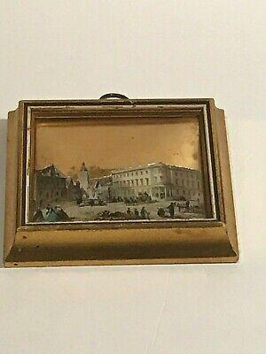 18th century Town Center Scene Decoupage Art by Sungott Art Studios