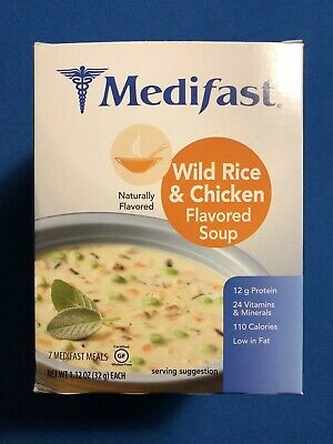 Medifast Wild Rice & Chicken Flavored Soup - 7 Servings - Fresh!  FREE SHIPPING! ()