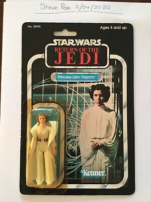 Vintage Star Wars Kenner ROTJ Princess Leia Organa 77 Back Moc Rare