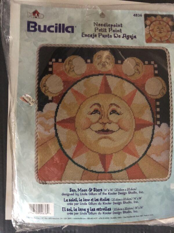 2001 BUCILLA Needlepoint Kit SUN, MOON & STARS #4836 BY Linda Gillum  Unopened