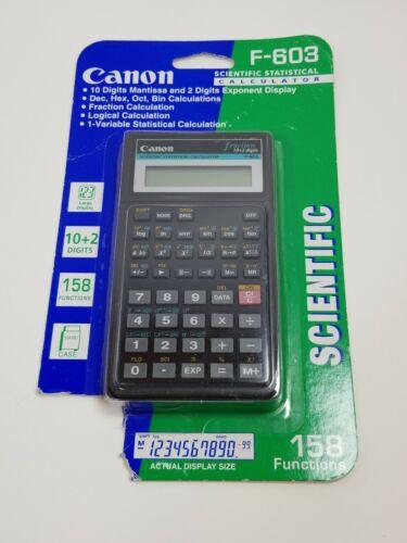 NEW Canon Scientific Statistical Calculator F-603 Handheld