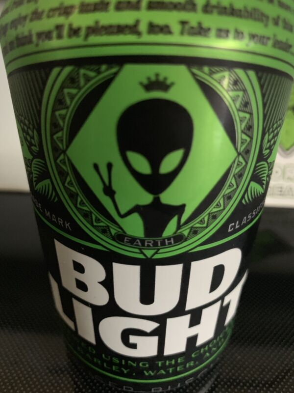 Bud Light Green Alien Earth Can Storm AREA 51 Budweiser Collectors Collectibe