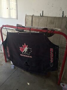 Full size hockey net with flap