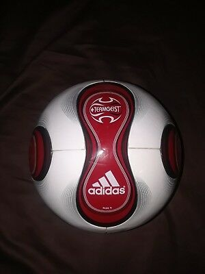 (Adidas Red Teamgeist Soccer Ball Football Rare with Box 2006 2007 Size 5)