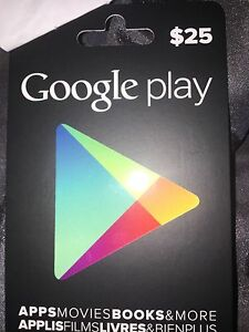 $25  Google Play card not used