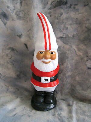 Hand Painted Ceramic Garden Gnome or Figurine Red and White Sports Outfit](Garden Gnome Outfit)