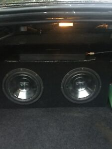 "Two 10"" Infinity subs and amplifier"
